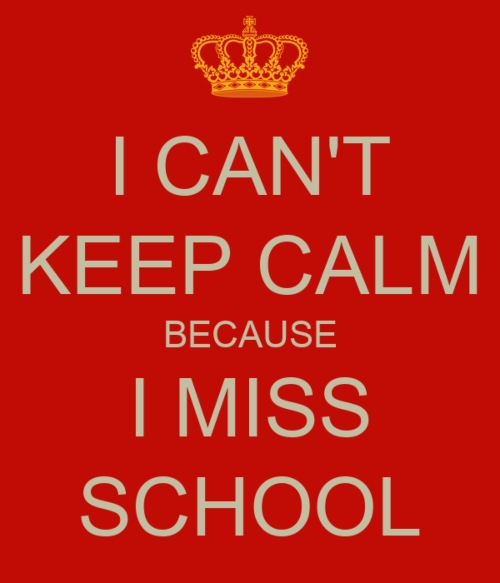 Do you miss school?
